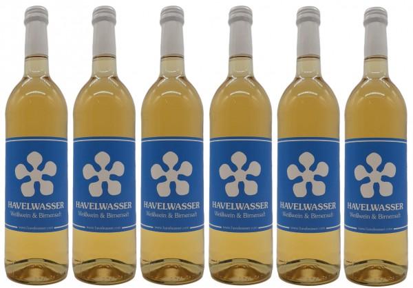 6er Karton Havelwasser Weiß, Bio - Weißwein küsst Birnensaft 6 x 750ml 4260415330031